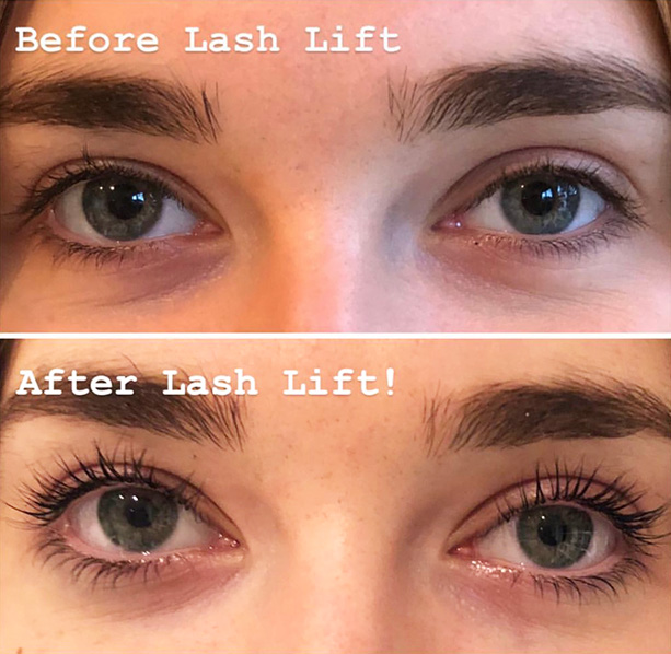 Lash lift in Camberley - before and after